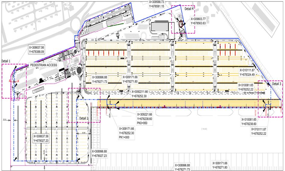 Plan du Terminal à conteneurs